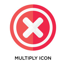 Multiply Icon Vector Sign And ...