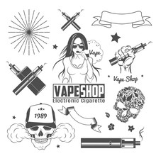 Vintage Elements For Vape Shop...