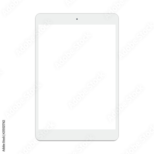 Tablet pc computer with blank screen isolated on white background. #215021762
