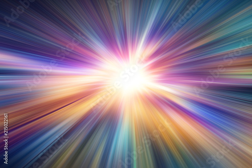 Obraz colorful zoom blur speed night road effect abstract for background - fototapety do salonu
