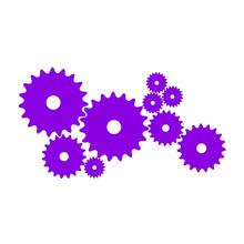 Gears In Purple Design