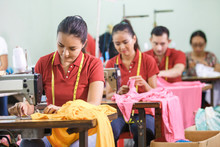 Asian Workers In Garment Facto...