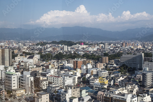 City view of Japan and blue sky, cityscape