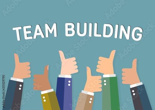 Построение команды. Концепция успеха компании. Wallpaper Mural