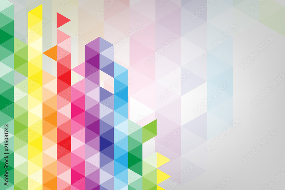 Fototapeta Vector abstract background of geometric shapes.