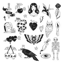 Tattoo Elements Collection. Ve...