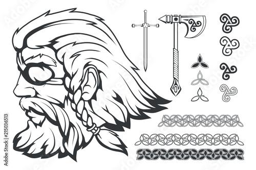 Fotomural Scandinavian supreme god of Norse mythology - Odin