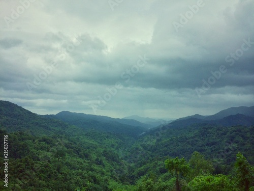 View landscape nature of the day at the mountain