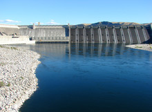 Grand Coulee Dam In Washington...