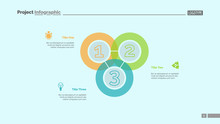 Triple Intersect Graph Slide Template. Business Data. Chart, Diagram. Creative Concept For Infographic, Presentation, Report. Can Be Used For Topics Like Finance, Statistics, Development