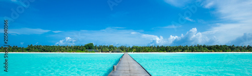 Foto op Canvas Tropical strand tropical beach in Maldives