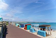 Beach Huts Along Weymouth Beach