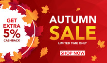 Autumn Sale Banner Template Wi...