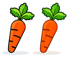 Vector Illustration Of Carrot Icon