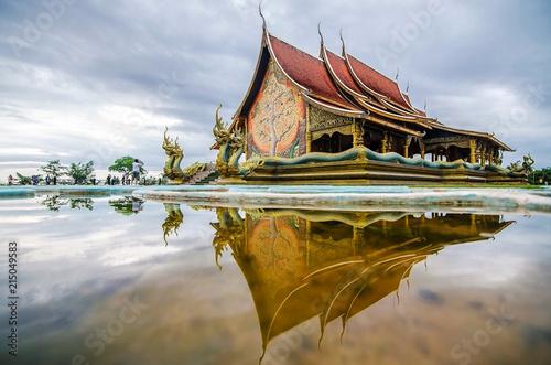 Fotobehang Temple Sirindhorn Wararam Phu Prao Temple (Wat Phu Prao) at evening, Very Beautiful Temple near the Thai-Laos Border town of Chong mek In Sirindhorn district of Ubonratchathani Province unseen in thailand.