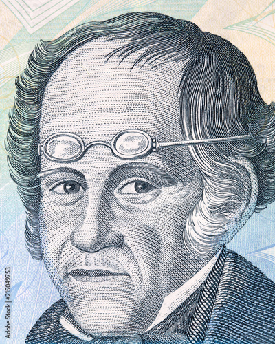 Cuadros en Lienzo Simon Rodriguez portrait from Venezuelan money