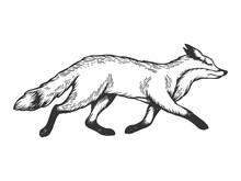 Running Fox Animal Engraving V...