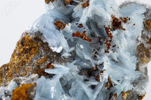 Blue barite mineral specimen Wallpaper Mural