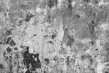 Grungy Cement Wall In Black An...