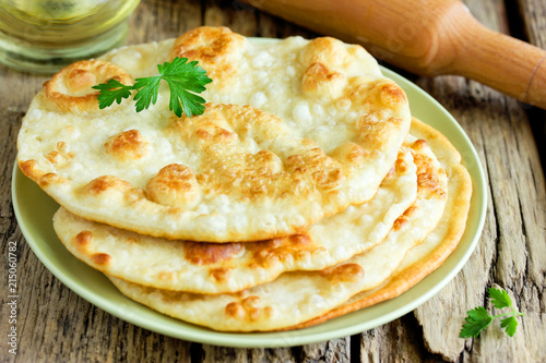 Fried flatbread flat bread piadina naan pita tortilla shelpek cheburek