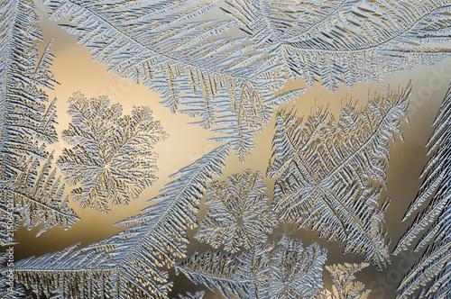 Frost flowers on window - 215064321