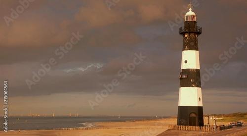 In de dag Noord Europa Lighthouse at the Westerschelde, Zeeland The Netherlands