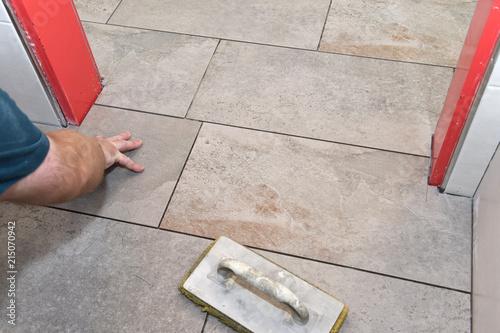 Bodenfliesen Verlegen Buy This Stock Photo And Explore Similar