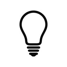 Light Bulb Line Icon. Idea And Creativity Symbol.