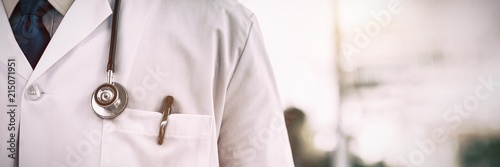Fototapeta Doctor wearing lab coat