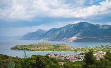 Aerial View Bays Of Epidavros. Peloponnese Greece.