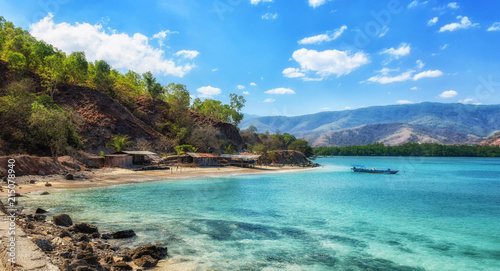 Tropical exotic coastline beach of dili in east timor