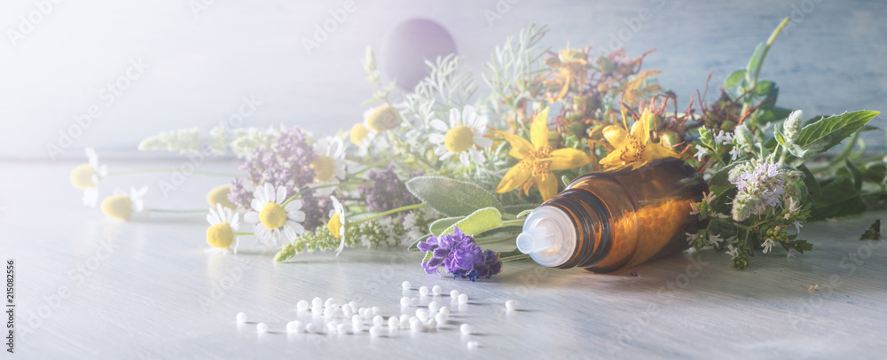 Fototapety, obrazy: Header for homeopathy and other alternative medicine