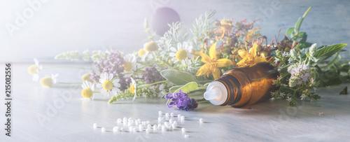 Fotografie, Obraz  Header for homeopathy and other alternative medicine
