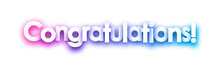 Purple Congratulations Sign On White Background.
