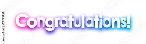 purple congratulations sign on white background buy this stock