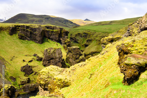 península de Snaefellsnes. Escena de la mañana pintoresca y hermosa. Lugar famoso de la cascada de Kirkjufellsfoss, Islandia, Europa.