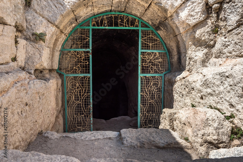 Tuinposter Oude gebouw Gate of Aya Tekla underground cave Church also known as Saint Aya Thecla or Aya Thekla, is ruined historic church of Byzantine period pilgrimage site located in Silifke,Mersin,Turkey.