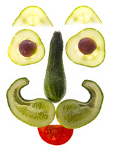 Face From Vegetable - Happy Food For Children