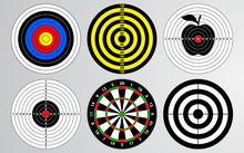 Set Of Shooting Range Target V...