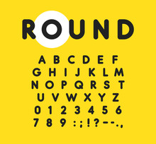 Bold Alphabet With Rounded And...