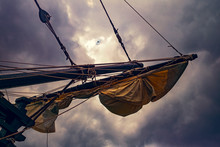 Sails On An Old Sailing Ship