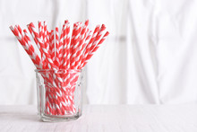 Recyclable Red Drinking Straws...