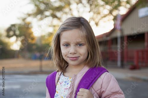 Portrait of schoolgirl