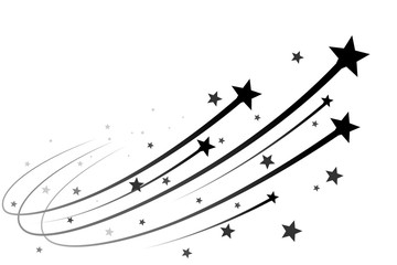 Black falling stars
