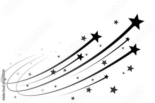 Obraz Black falling stars - fototapety do salonu