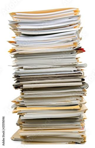 Fotografía  Stack of Documents / Files
