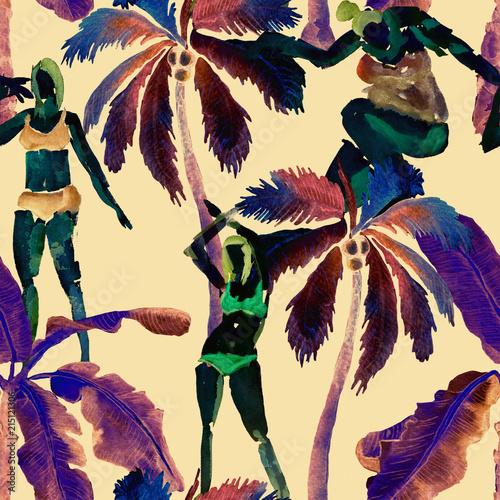 La pose en embrasure Fées, elfes Summer pattern with girls.