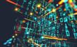 canvas print picture - Fondo de informática y programación. Codigo binario y redes.Diseño abstracto de tecnología y datos en internet