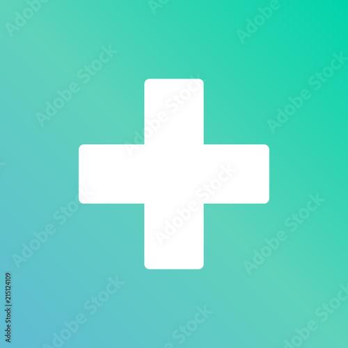 Canvastavla icono verde azul cruz salud