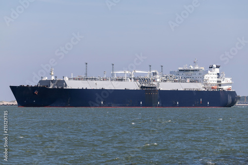 LNG carrier outbound Rotterdam